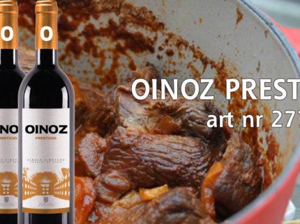 Oinoz Prestigio passar utmärkt till lamm.