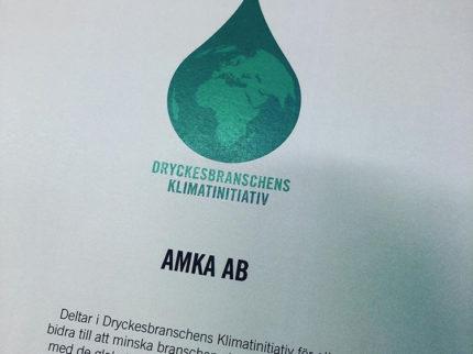 Dryckesbranchens Klimatinitiativ + AMKA = SANT